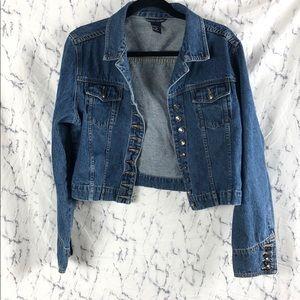 Boston Proper Jean Jacket Button Down w/ Pockets